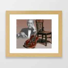 Tribute to a Genius Framed Art Print