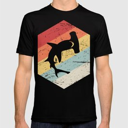 Retro 70s Hammerhead Shark Icon T-shirt