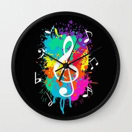 Music grunge Wall Clock
