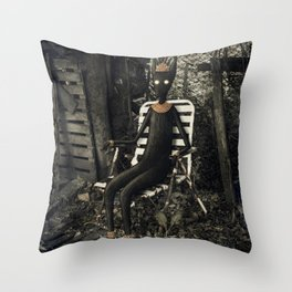 Disfrutando del silencio Throw Pillow