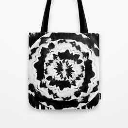 Hypnotized -TIE DYE BLACK WHITE Tote Bag