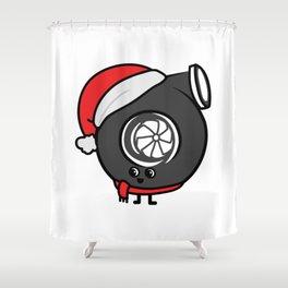 festive turbo Shower Curtain
