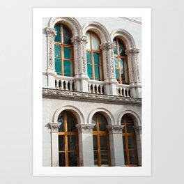 Windows of Dublin Art Print