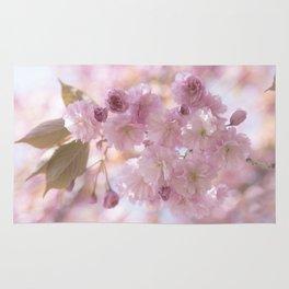 Pink Spring Cherry Blossom Rug