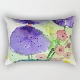 two pansys Rectangular Pillow