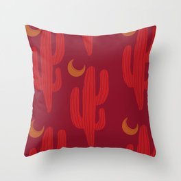 Neon Cactus Throw Pillow