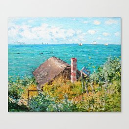Claude Monet The Cabin At Saint-Adresse Canvas Print