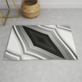 stripes wave pattern 6v3 bwbf Rug