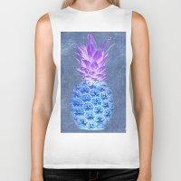 pineapple Biker Tanks featuring Pineapple  by Saundra Myles