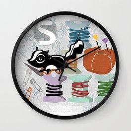"""""""S"""" Wall Clock"""