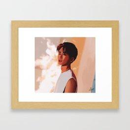 iKON B.I Framed Art Print