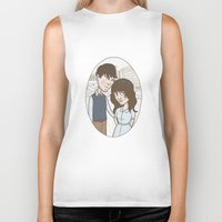 500 days of summer Biker Tanks featuring 500 days of summer portrait. by Nic Lawson