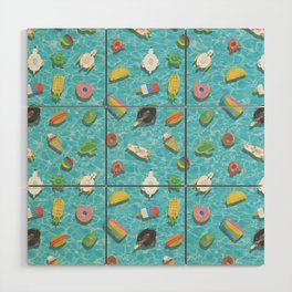 Pool floaties Wood Wall Art