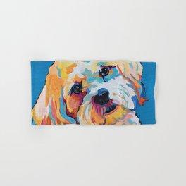 Maltipoo, Cavapoo, Cavachon, Cockerpoo, Mix Breed Custom Pop Art Pet Portrait Hand & Bath Towel