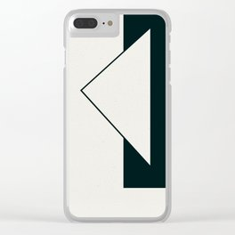Triangular Imposition 1 Clear iPhone Case