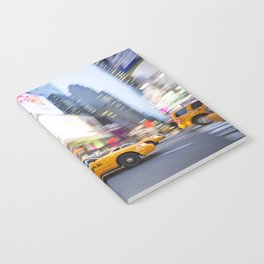 Yellow taxi cab in times square Notebook