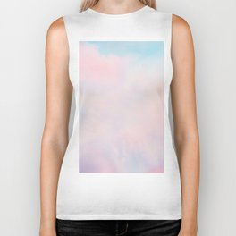 cotton candy dreaming Biker Tank