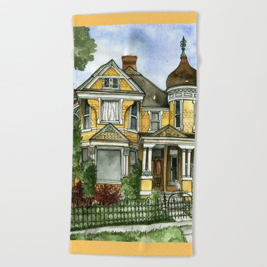 Victorian in The Avenues Beach Towel