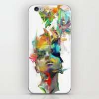 black and gold iPhone & iPod Skins featuring Dream Theory by Archan Nair