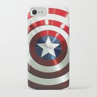 steve rogers iPhone & iPod Cases featuring Captain Steve Rogers Shields  by neutrone