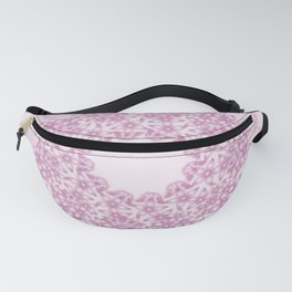 Pink butterflies and flowers mandala Fanny Pack
