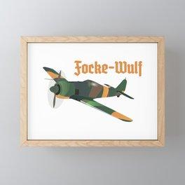 Focke-Wulf Fw 190 German WWII Airplane Framed Mini Art Print
