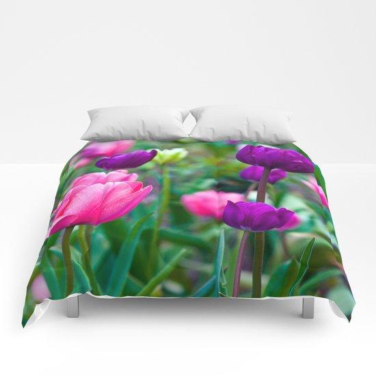 Colorful Tulips Comforters