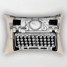 patent art typewriter Rectangular Pillow
