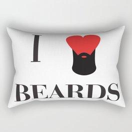 I heart Beards Rectangular Pillow