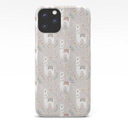 Sweet Llama on Gray iPhone Case