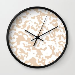 Spots - White and Pastel Brown Wall Clock