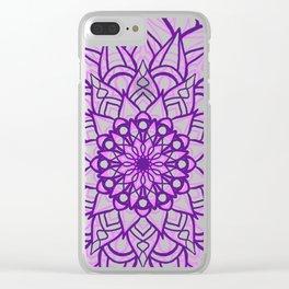 purple noise Clear iPhone Case