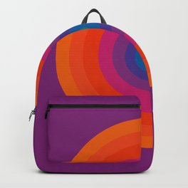 Retro Bullseye Pattern Backpack