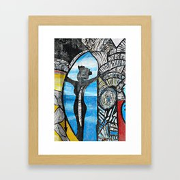 Seaside Beauty Queen Framed Art Print