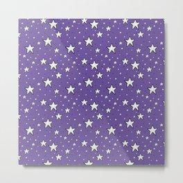 stars on purple background Metal Print