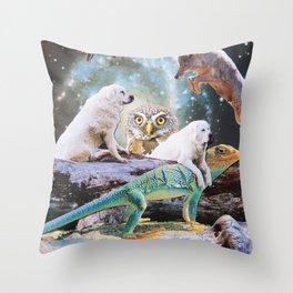 Cosmic Creatures Throw Pillow