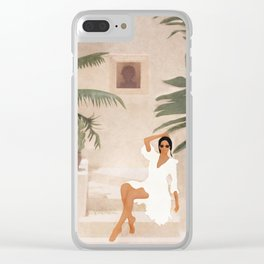 Graceful Resting II Clear iPhone Case