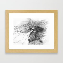 Bringing In The Dark Clouds Framed Art Print