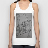 cigarettes Tank Tops featuring camel cigarettes by Dan Feit