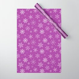 Purple & Snowflakes Wrapping Paper