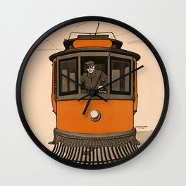 History of the Trolley car 1905 Wall Clock