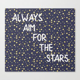 Always Aim For The Stars Wall Tapestry Canvas Print
