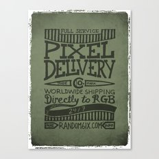 Handwriting: Pixel Delivery Canvas Print