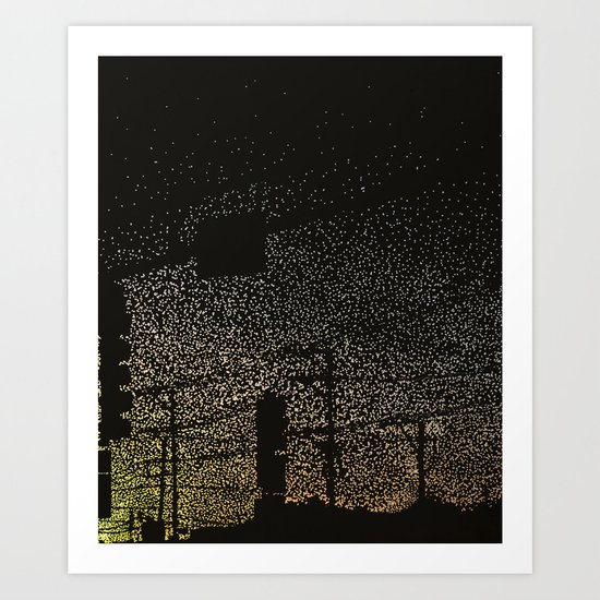 Photon Traffic Art Print