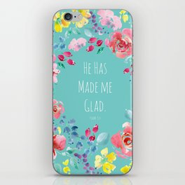 He has made me glad Bible quote iPhone Skin