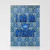 atheist Stationery Cards featuring Ateaist by Irina Chuckowree