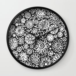 of flowers and planets Wall Clock