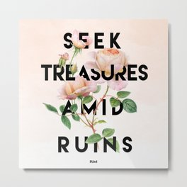 Seek Treasure Metal Print