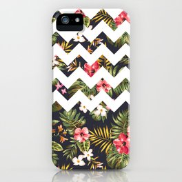 Floral Chevron iPhone Case