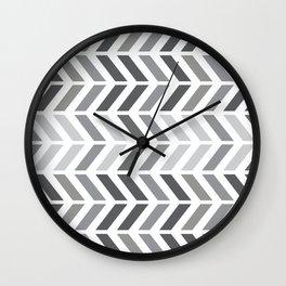 chevron horizontal Wall Clock